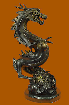 Collector Edition Numbered Furious Dragon Bronze Classic Artwork Sculpture Sale