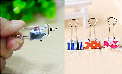 Fancy 20Pcs Tiny Metal Assorted Color File Binder Office Stationery Paper Clips