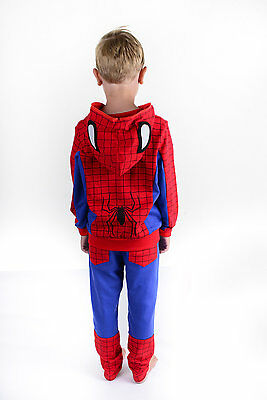 SUPER HERO UK, Boys Spider Hoodie TRACK SUIT, Spider Man Suit - AGES 3 TO 8 YEAR