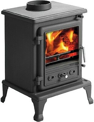 Firefox 5 Stove Cast iron Multifuel Woodburning Stove- free gloves free delivery