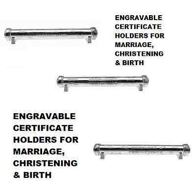 Certificate Holder Birth, Christening, Marriage Engraveable 10 Letters Free