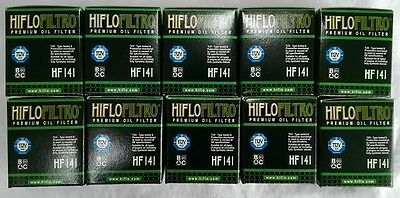 Yamaha YZ250F (2003 to 2008) HifloFiltro Oil Filter (HF141) x 10 Pack
