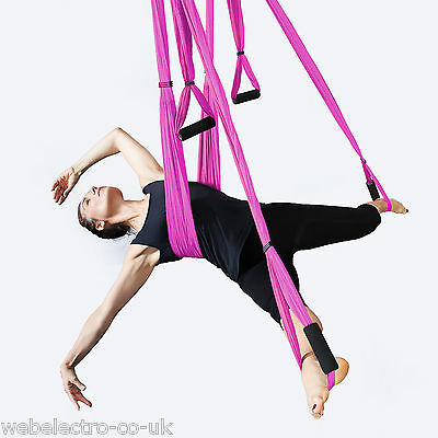11560 Aerial Anti Gravity Inversion Yoga Swing Hammock to Good Health & Fitness