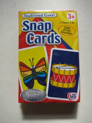Snap Cards Traditional Games Kids Children Fun Entertain Travel Play Deck Pack