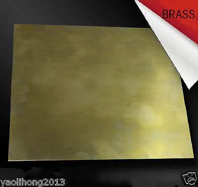 1pcs Brass Metal Sheet Plate 0.5mm x 100mm x 100mm 98%