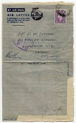 Gb Fpo Ww2 1945 Mef Palestine Airmail + Long Letter + Philatelic Mention