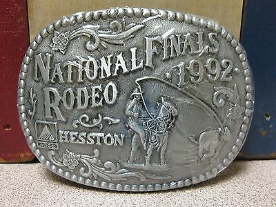 Vintage 1992 Hesston National Finals Rodeo Belt Buckle NOS FREE SHIPPING!