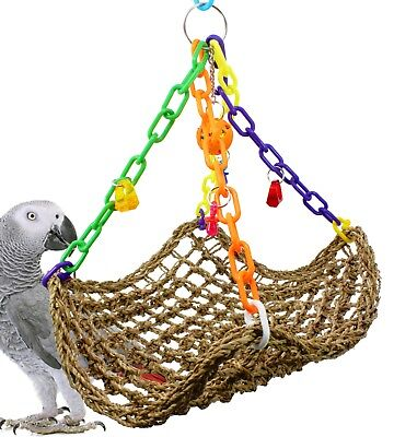 1958 Large Platform Swing Bird Toy parrot cage toys cages african grey play gym