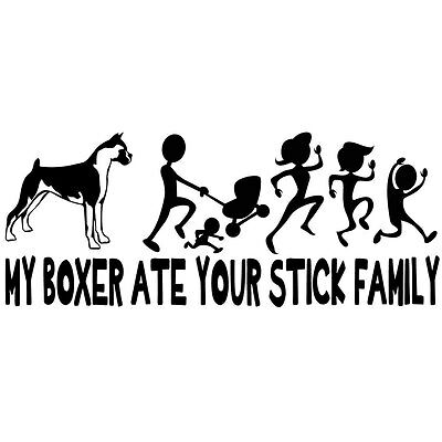 My Boxer Ate Your Stick Family Decal