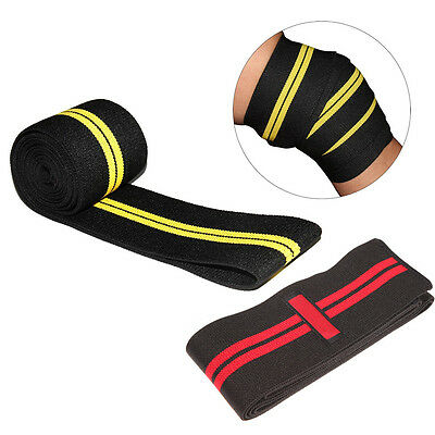 Knee Wrap Weight Lifting Bandage Strap Guard Protect Powerlifting Pad Sleeve Gym