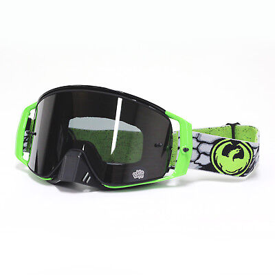 Dragon NEW Mx NFX2 Nate Adams Green Injected Ionized Motocross Dirt Bike Goggles