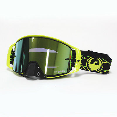 Dragon NEW Mx NFX2 Pinned Injected Smoke Gold Ion Motocross Dirt Bike Goggles