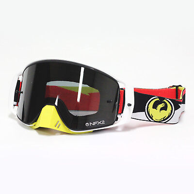 Dragon NEW Mx NFX2 Rockstar White Injected Ionized Motocross Dirt Bike Goggles