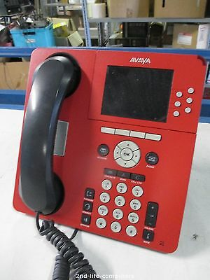 """RED PHONE Avaya IP Office / Communication Manager 9640 VoIP 10 Button 3.8"""" Color"""