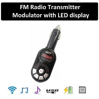 Universal Dual USB Car Kit LCD SD Radio FM Transmitter MP3 Player Handsfree UK