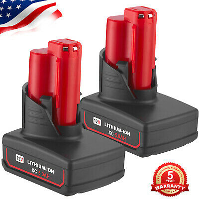 2 x For Milwaukee M12 48-11-2440 48-11-240  Li-ion Replacement Battery 12V 5.0Ah