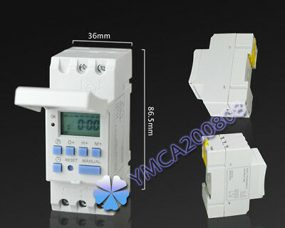 DIN Rail Mounting Weekly Digital Programmable Timer THC15A AC 220V Time Switch