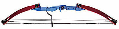 Armex Micro Compound Longbow Long Bow In Claret & Blue 25lb Archery CO-003