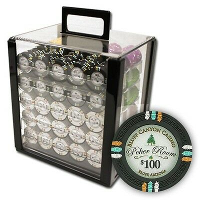 New 1000 Bluff Canyon 13.5g Clay Poker Chips Set with Acrylic Case - Pick Chips!