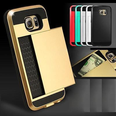 Card pocket Hard Back Wallet case cover for Samsung Galaxy Note 5 S6 EDGE plus +