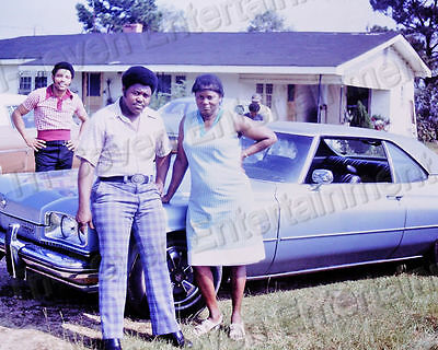 1974 Vintage African American Family Blue Buick Car 8x10 Color Photo Original