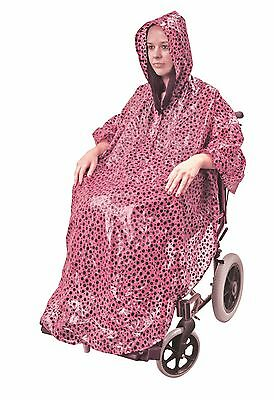 Wheelchair Rain Cover - Waterproof Wheelchair Poncho - Wheelchair Accessories