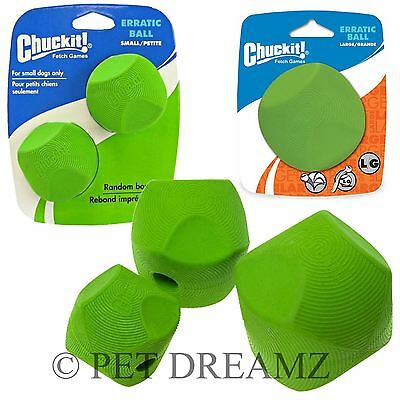 Chuckit ERRATIC Ball Dog Puppy Rubber Bouncing Toy Fits Launchers – 3 Sizes