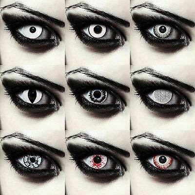 White colored zombie eye contacts lenses scary contacts for Halloween costume