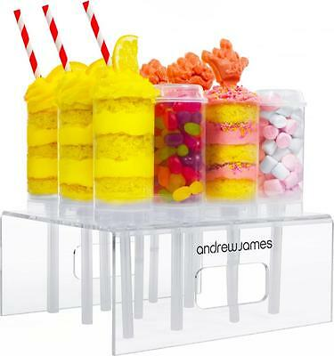 Andrew James 12 Cake Push Pop Containers Party Dessert Treats & Display Stand