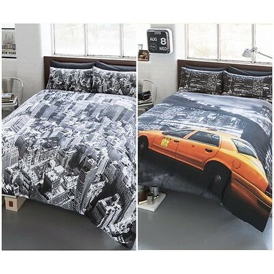 NY New York Bedding Duvet Quilt Cover Set & Pillowcases 2 Designs! All sizes!