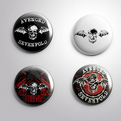 4 AVENGED SEVENFOLD - Pinbacks Badge Button 25mm 1''