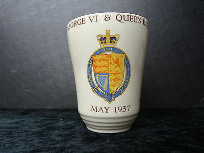 J&G Meakin Beaker - George VI Coronation 1937 - Issued by London County Council