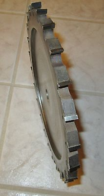 """Industrial Straight Cutter/Groover 1/2"""" Carbide Kerf 10"""" Blade-5/8""""Bore"""