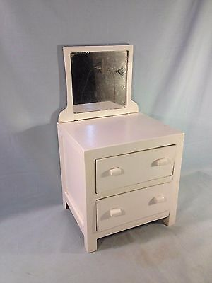 Antique Salesman Sample Vanity Dresser Painted White Great Quality