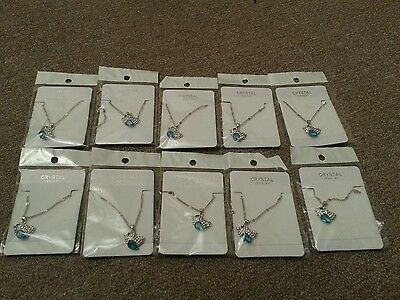 Job Lots High Quality Bird Crystal Necklace x 10 pieces, Bargain !