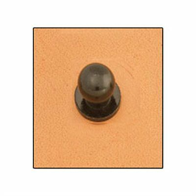 3 Black Button Studs - 7mm Screwback by Tandy - FREE SHIPPING!