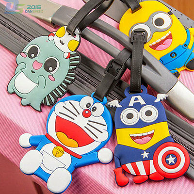 Cartoon Girls Boys Luggage Tag Personality Travel Suitcase ID Label Check Card