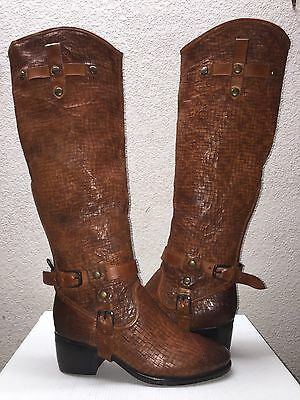 Ugg Collection Cortona Weave Tobacco Over The Knee Boots Us 7 / Eu 38 / Uk 5.5