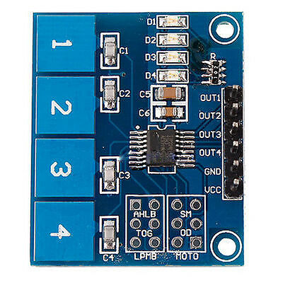 TTP224 4-way Capacitive Touch Switch Module Digital Touch Sensor For Arduino 5Y