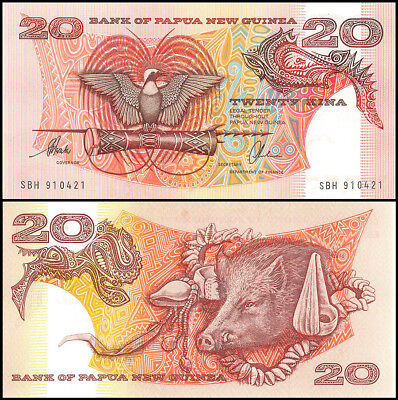 Papua New Guinea 20 Kina Banknote, 1996 ND, P-NEW, UNC