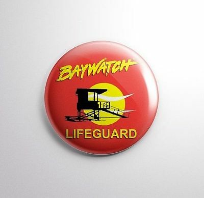 BAYWATCH -  Pinbacks Badge Button 25mm 1''