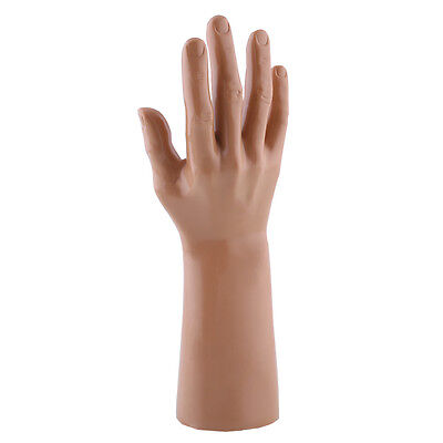 Male Mannequin Right Hand Display Glove Stand Holder Model Apricot&Brown Random