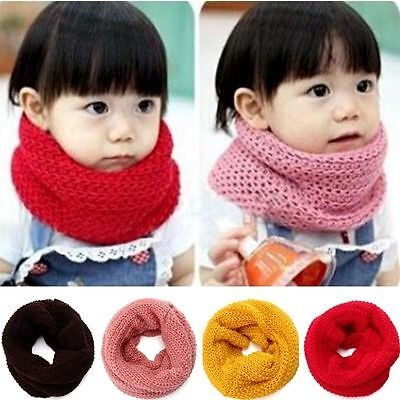 Baby Kids Toddlers Boys Girls Winter Warmer Neck Wraps Knitted Snood Scarf Shawl