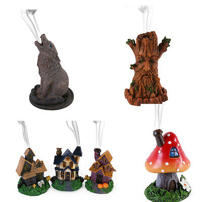 Variety Incense Burner/ Cone Holder by Lisa Parker Wolf Tree Man Haunted House