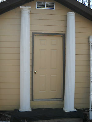 "(2) 10 Ft. Wood Architectural Fluted Porch 12"" Tapered Columns"