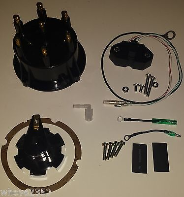 Ignition Sensor & Tune-Up Kit Mercruiser Thunderbolt HEI V6 Cap, Rotor Free Ship