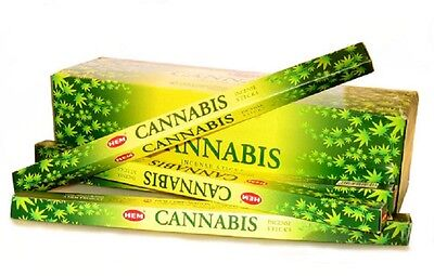 12 Sq Boxes x 8g HEM CANNABIS Incense Sticks - Total  96 sticks(Bulk Lot)