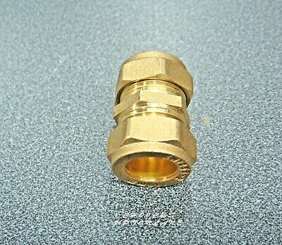 Brass Compression Plumbing Fitting Straight (Coupling) Size(S) 15Mm / 22Mm