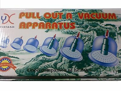 Hi Quality 6 Cups And A Pump Vacuum Cupping Set Acupuncture Therapy Hijama