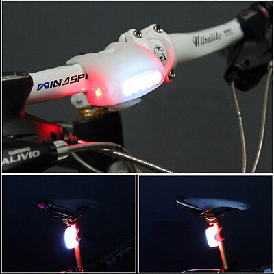 NEW HOT Cycling Bike Bicycle 7 LED Black Silicone Warning Rear / Front Light